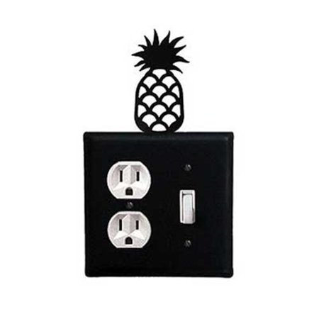 Village Wrought Iron EOS-44 Pineapple Single Outlet and Switch Cove ()
