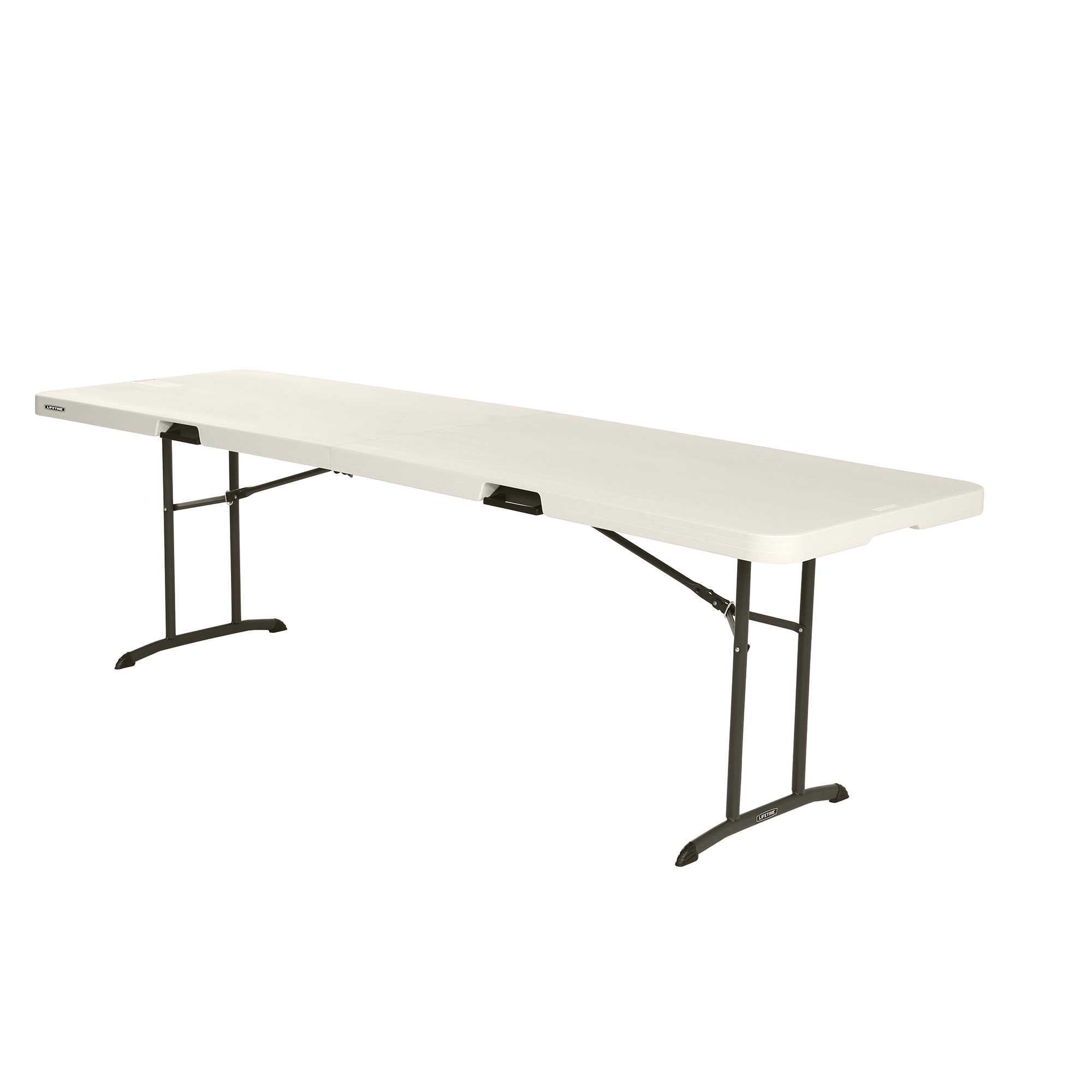 - Lifetime 8' Fold-In-Half Table, Almond, 80175 - Walmart.com