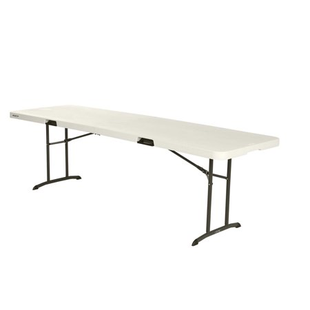 Lifetime 8' Fold-In-Half Table, Almond, 80175 - Pack Lifetime 6' Almond