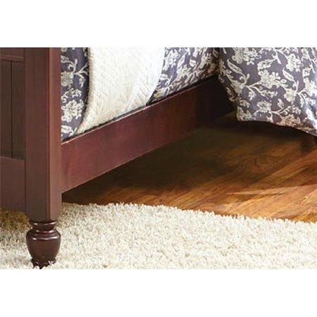 Carolina Furniture Works 529300 4.62 x 5.75 x 76 in. 3 by 3 Wood Rails with Slats, Espresso ()