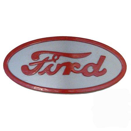 Front Nose Emblem (8N16600A 8N16600B Front Hood Nose Emblem Medallion Badge Grill For Ford 8N Red)