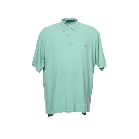 Polo By Ralph Lauren Mens Aqua Polo Shirt
