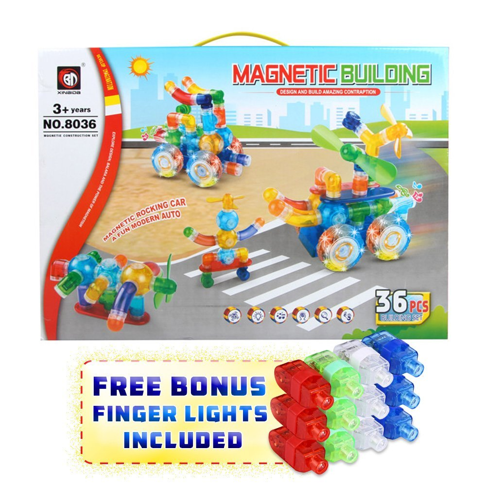 Magical Magnet Building Learning Toy Creative Construction Shapes for ALL Kids by Magical Magnet