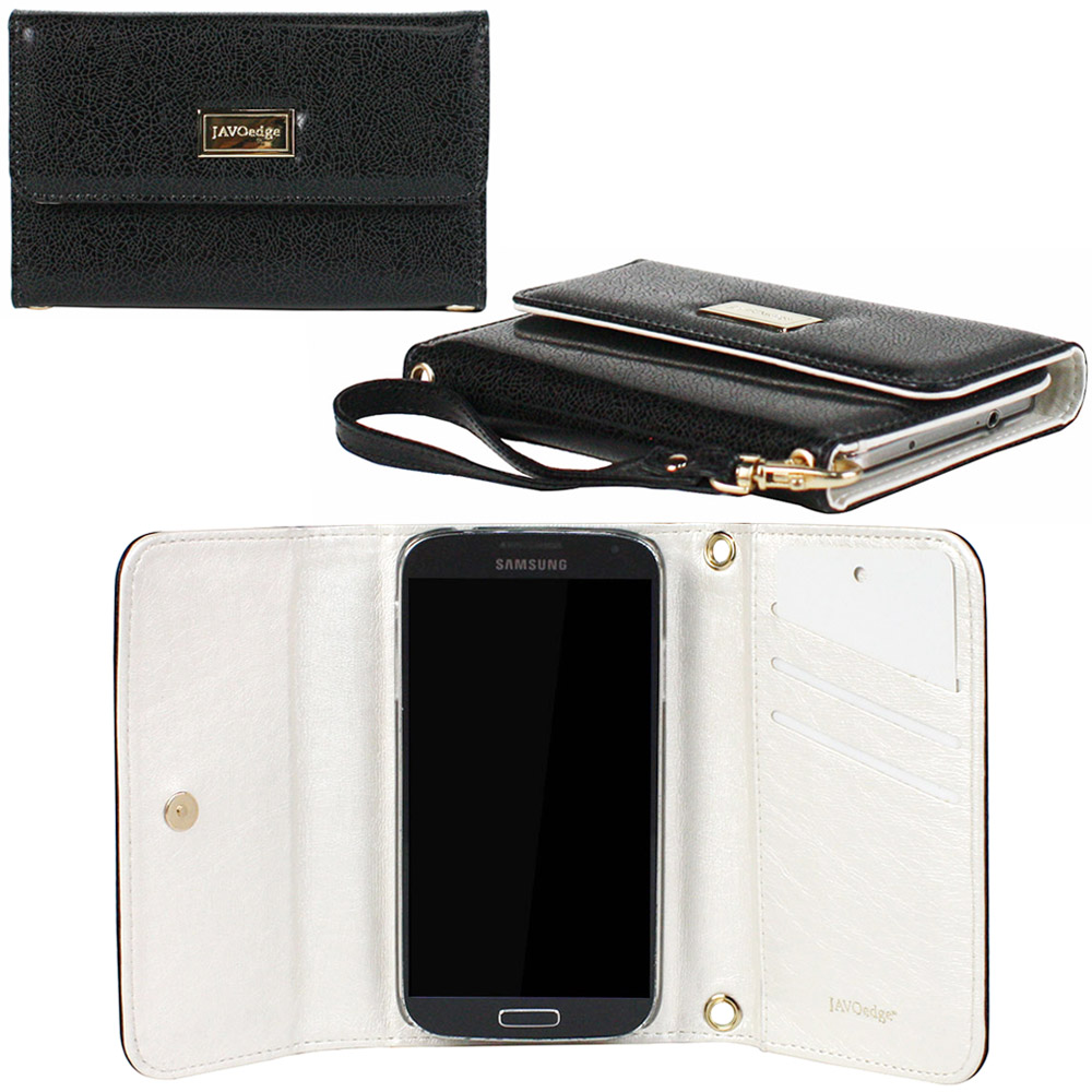 JAVOedge Classic Black Wallet Case with Wristlet for the Samsung Galaxy S4 (Black)