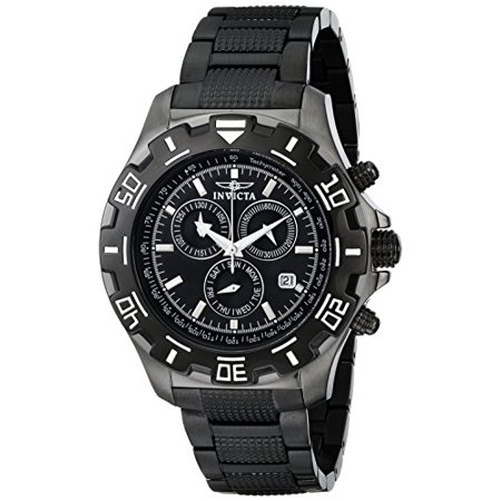 Python Collection - Men's 6412 Python Collection Chronograph Gun Metal Stainless Steel Wa