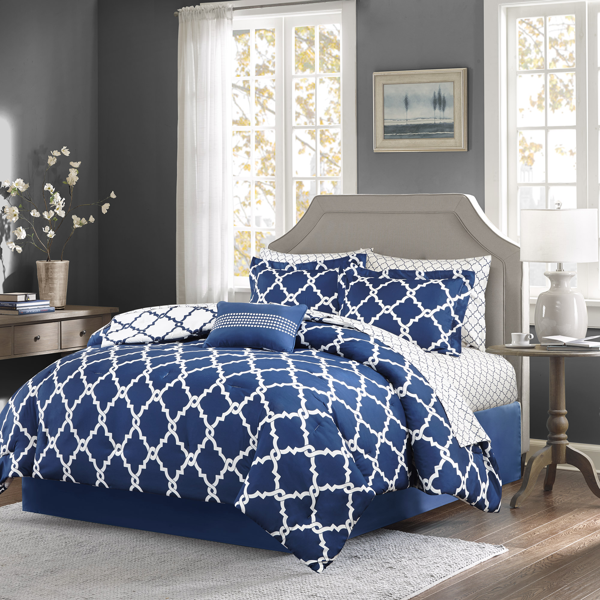 Home Essence Becker Reversible Bed in a Bag Bedding Set