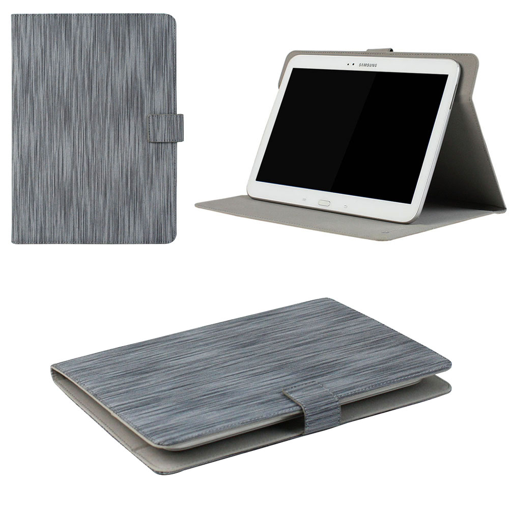 "JAVOedge Blue Stripe Pattern Universal Book Case for 7-8"" Tablets, iPad Mini, Samsung Tab, Nexus 7, Nook HD and More"