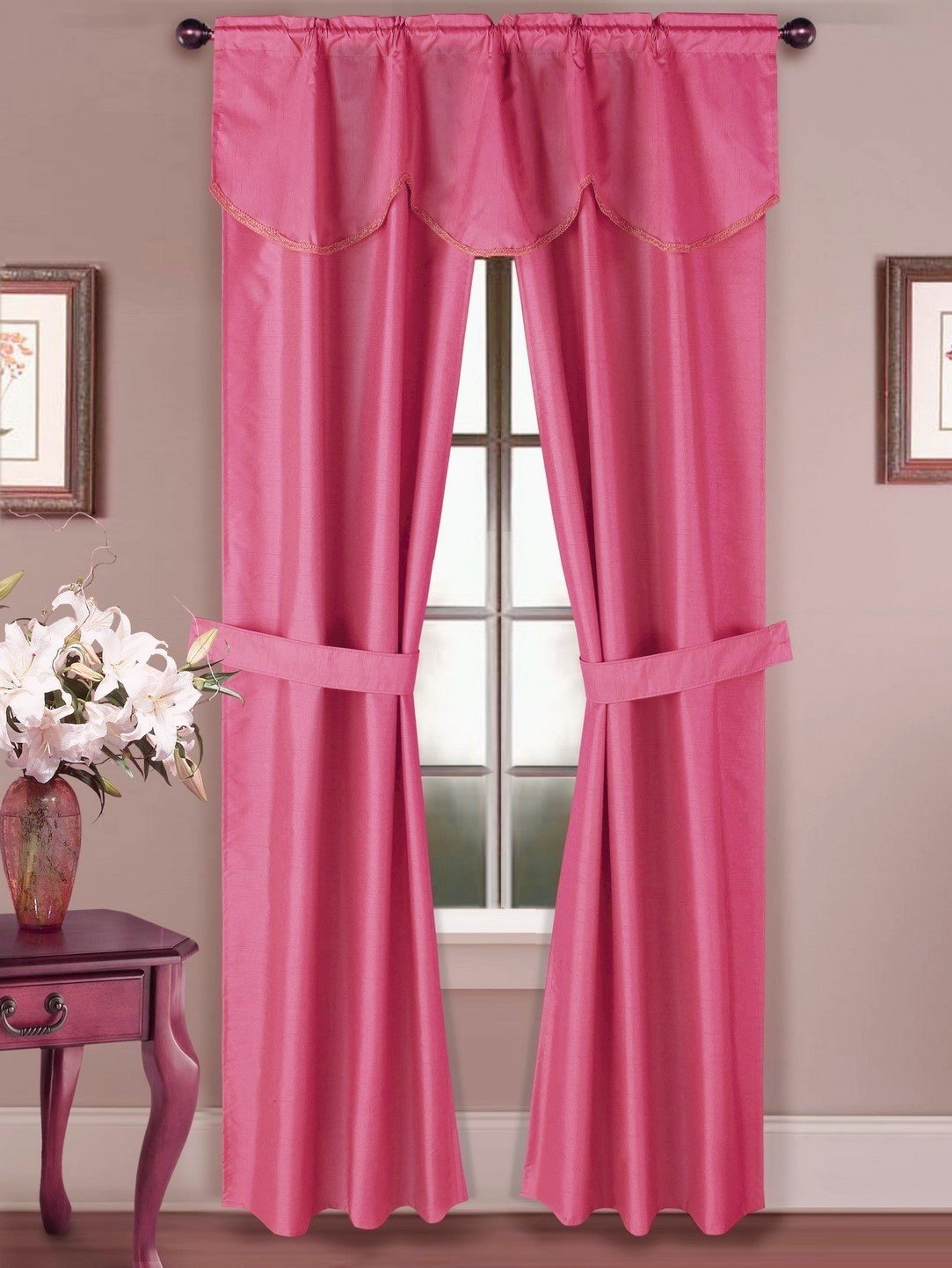 Shower Curtains With Valance And Tiebacks Shower Curtain