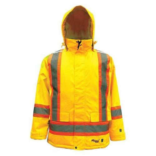 Viking 6450JG-XL Rain Jacket,Men's,Hi-Visibility Lime,XL ...