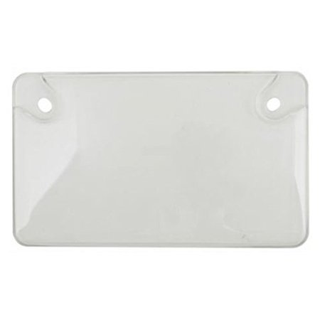 Motorcycle Shield (92778 Clear Unbreakable Motorcycle License Plate Shield, Clear license plate cover is ideal for protecting your license plate, while producing a.., By Custom Covers)