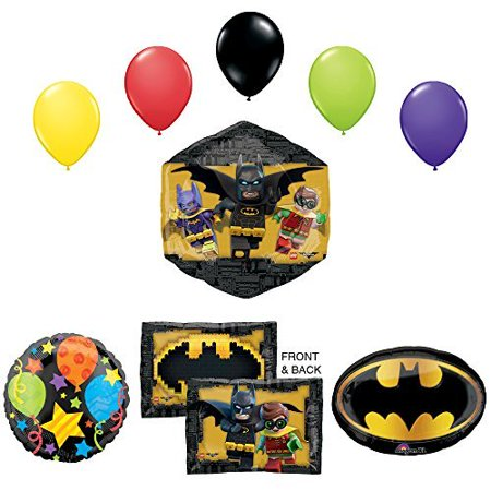 The Lego Batman Movie Birthday Party Supplies and Balloon - Lego Batman Birthday Party Supplies