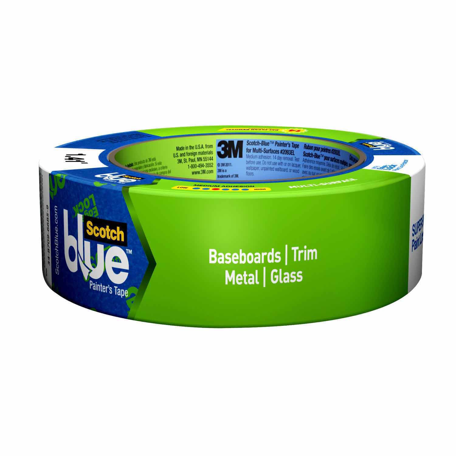 ScotchBlue™ Trim + Baseboards Painter's Tape with Edge-Lock™, 1.41 in x 45 yd