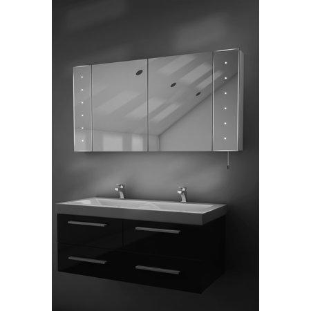 - Karma LED Illuminated Battery Bathroom Mirror Cabinet With Pull Cord k144