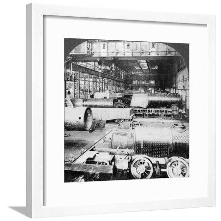 Erecting Shop, Baldwin Locomotive Works, Philadelphia, Pennsylvania, USA, 20th Century Framed Print Wall -