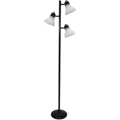 mainstays track tree floor lamp black