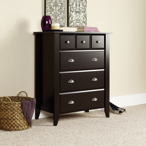 Sauder Shoal Creek 4-Drawer Dresser, Jamocha Wood Finish