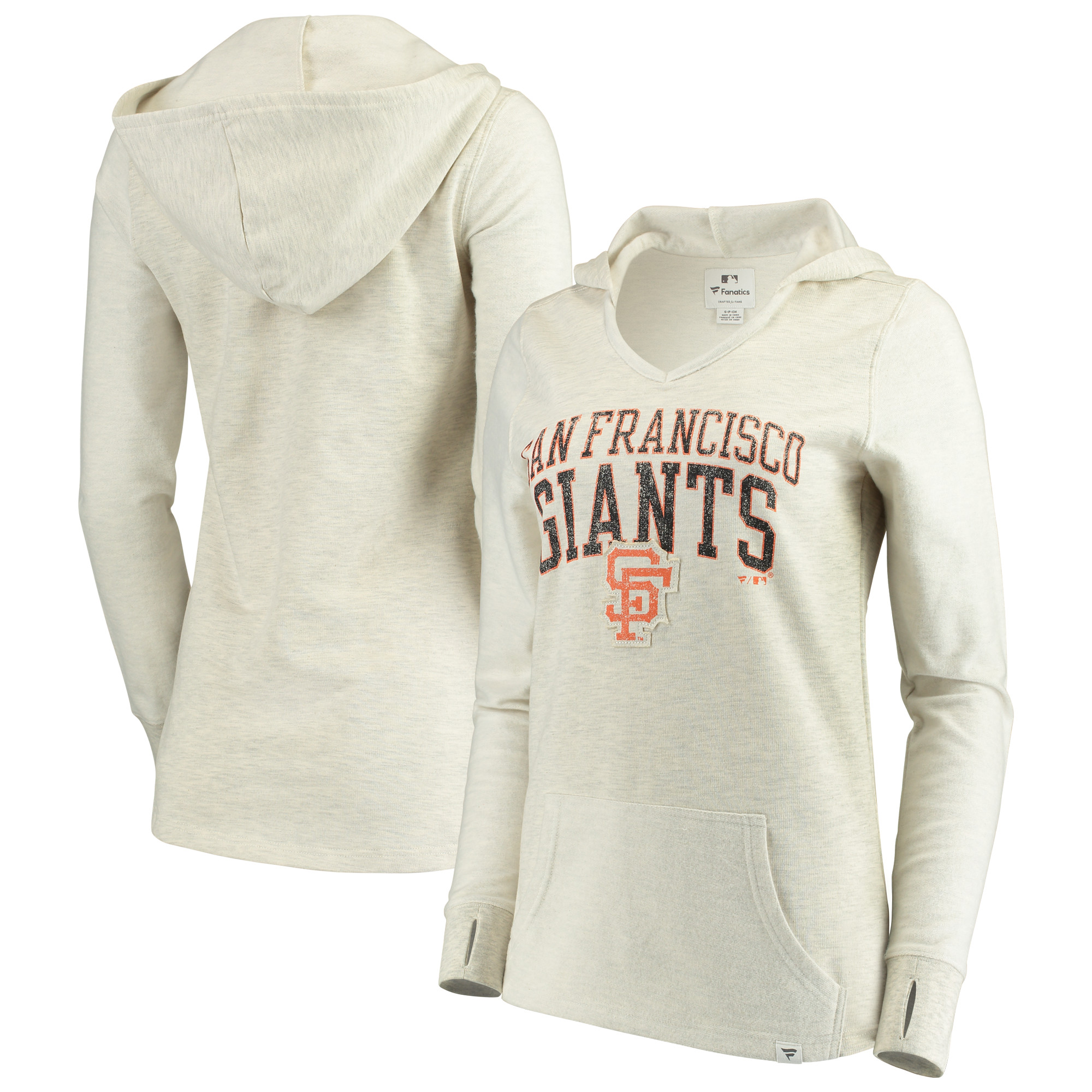 San Francisco Giants Fanatics Branded Women's True Classics Thermal Pullover Hoodie - White