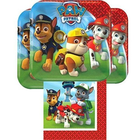 Napkins And Plates (paw patrol plates and napkins for 16 - 16 paw patrol dessert plates (7 inch) and 16 paw patrol napkins (6)