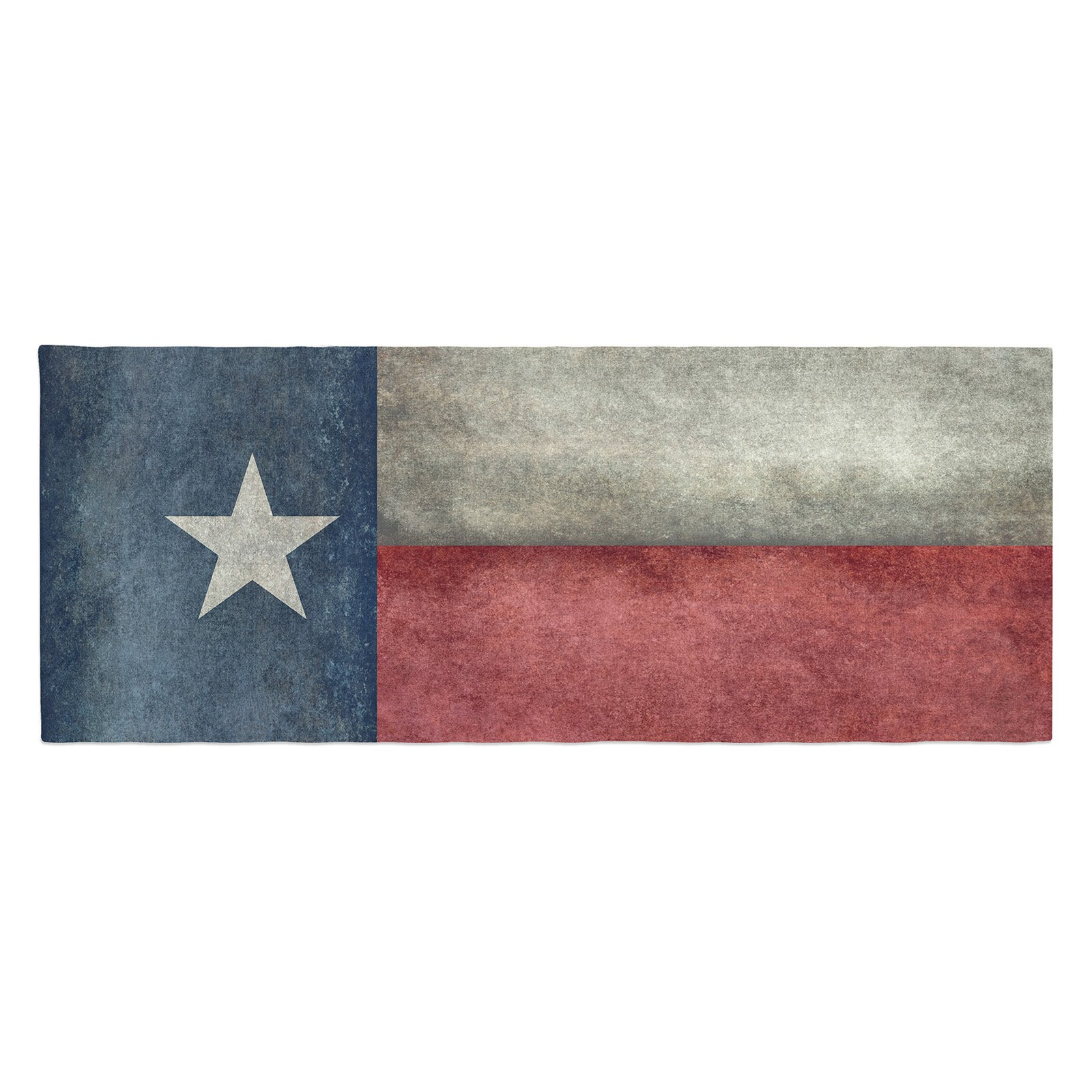 Bruce Stanfield Texas State Flag Vintage Digital Bed Runner by Kess InHouse