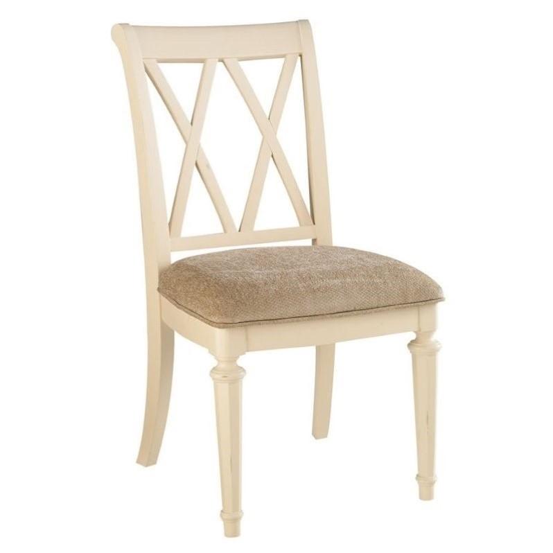 American Drew Camden Splat Back Dining Chair in Buttermil...
