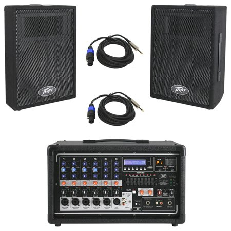 8 Channel 400w Powered Mixer - Peavey Pvi 6500 Pro 6Ch Powered 400W Mixer (2) 1/4