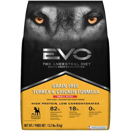 Evo Ancestral Diet Grain Free Turkey Chicken Formula Small Bites