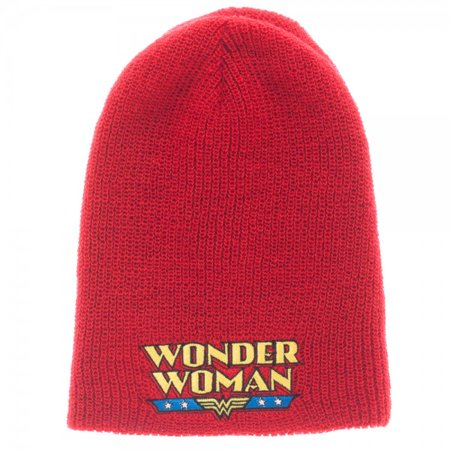 Dc Womens Beanie (Beanie Cap - DC Comics - Wonder Woman Reversible Slouch Licensed kc36b5dco )