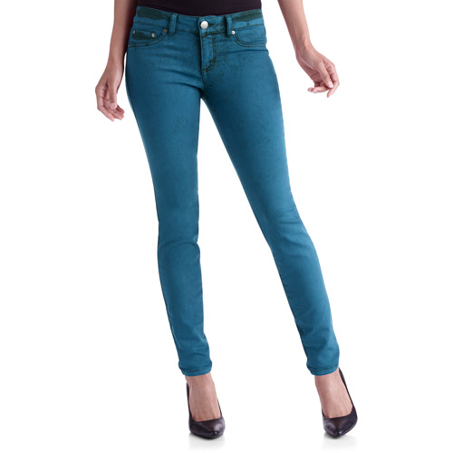 L.E.I. Juniors' Colored Acid Washed Denim Jeggings
