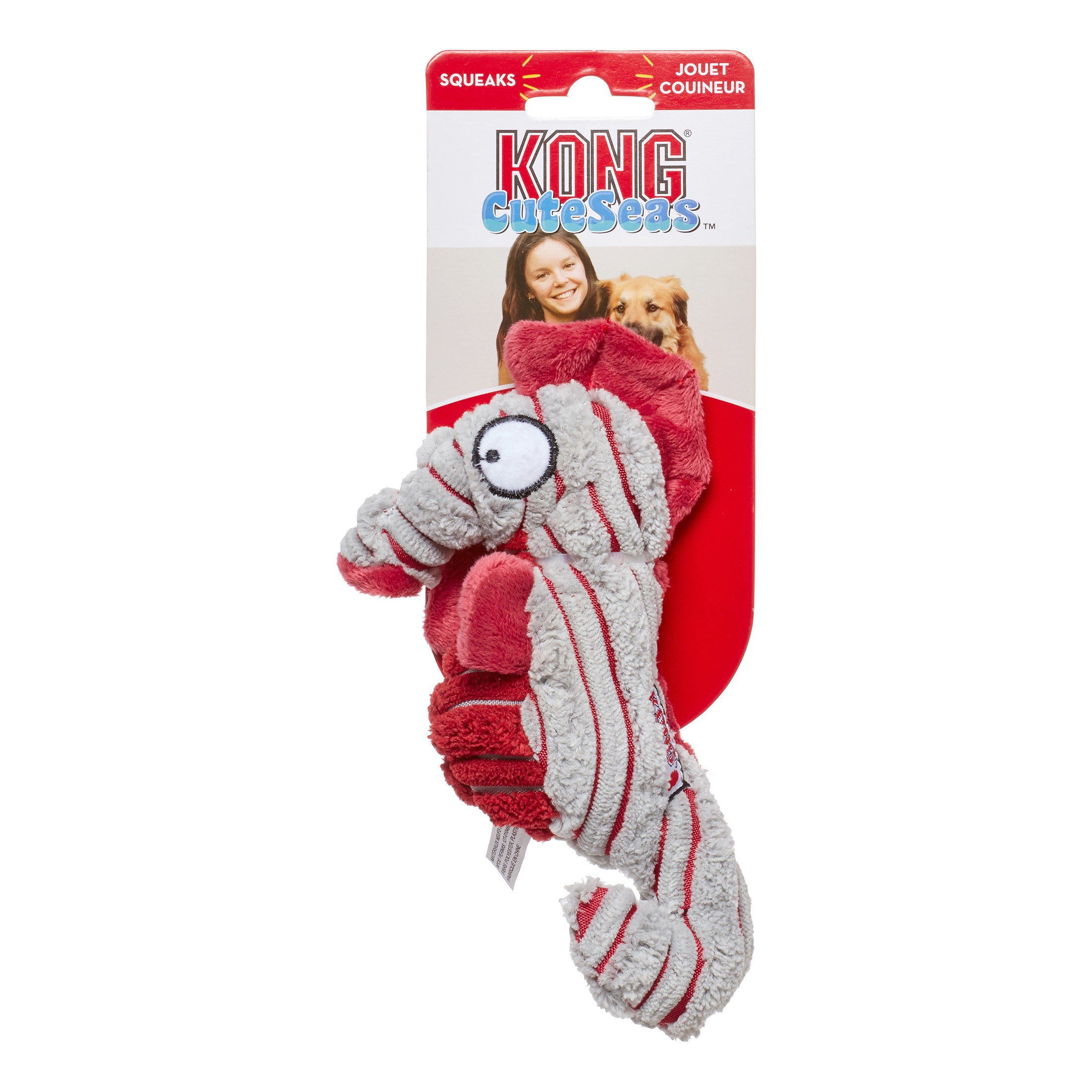 KONG Cuteseas Seahorse Dog Toy, Multi, Small