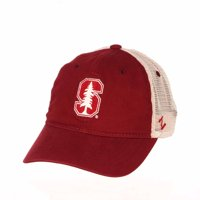 Adult NCAA Touchdown Relaxed Meshback Adjustable Hat (Stanford Cardinal - Team Color, Adjustable)