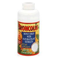 Cough Relief Syrup - Broncolin Honey Cough Relief Syrup With Natural Plant Extracts , Regular - 11.4 Oz