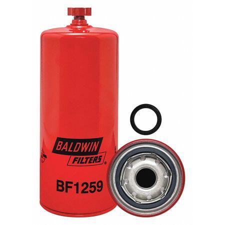 Fuel Filter,9-17/32x3-11/16x9-17/32 In BALDWIN FILTERS BF1259
