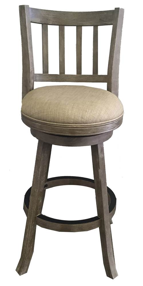 29 in. Wire Brush Swivel Bar Stool in Brownish Gray by Boraam