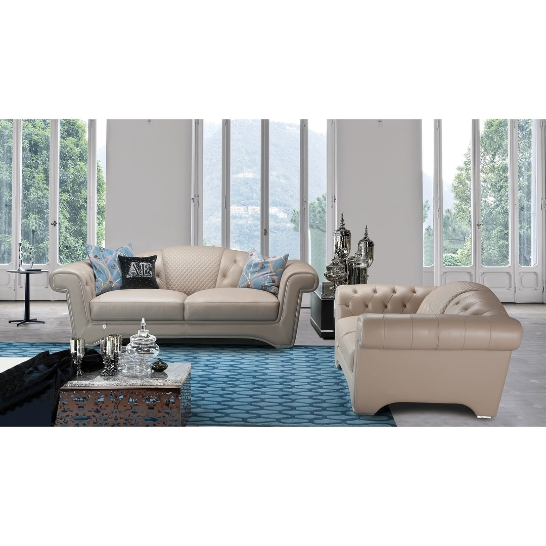 American Eagle Furniture Alameda Tufted Back Sofa Set