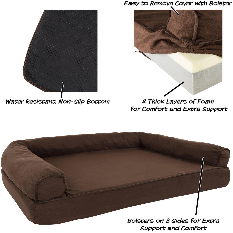 Amazing Orthopedic Dog Sofa Bed Memory Foam Pet Bed With Foam Stuffed Bolsters Petmaker Inzonedesignstudio Interior Chair Design Inzonedesignstudiocom