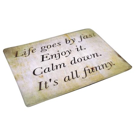 POP Inspirational Motivating Quotation with Special Filter Door Mat Home Decor Indoor Entrance Doormat 30x18 Inches - image 1 of 3