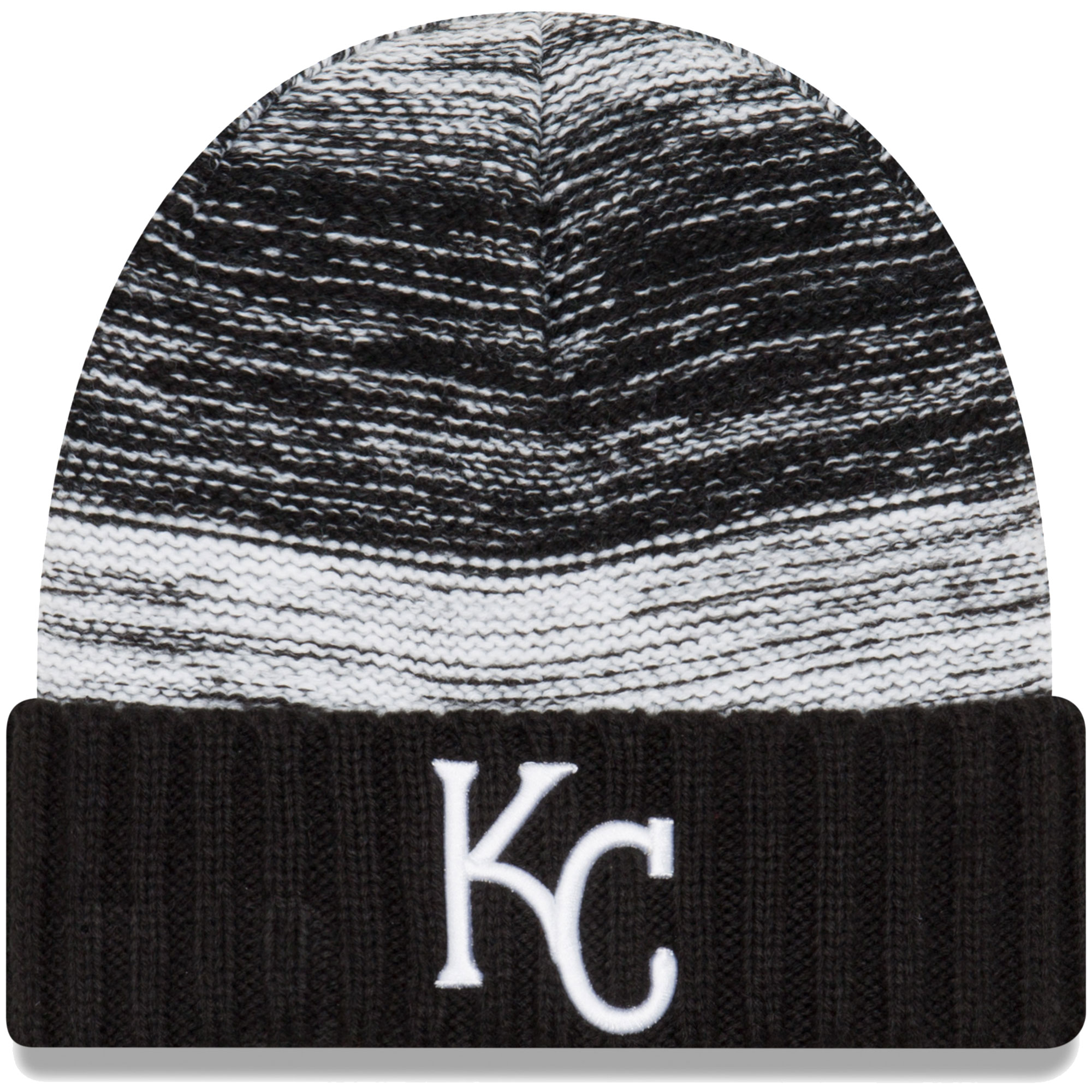 Kansas City Royals New Era Team Snug Cuffed Knit Hat - Black/White - OSFA