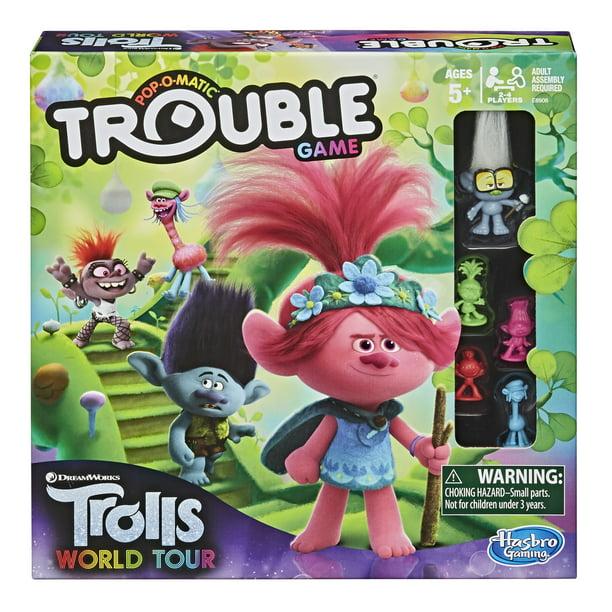 Trouble: DreamWorks Trolls World Tour Edition, 2-4 Players - Walmart.com - Walmart.com