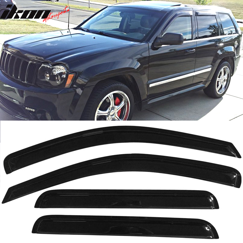 Fits 05-10 Jeep Grand Cherokee Acrylic Window Visors 4Pc Set