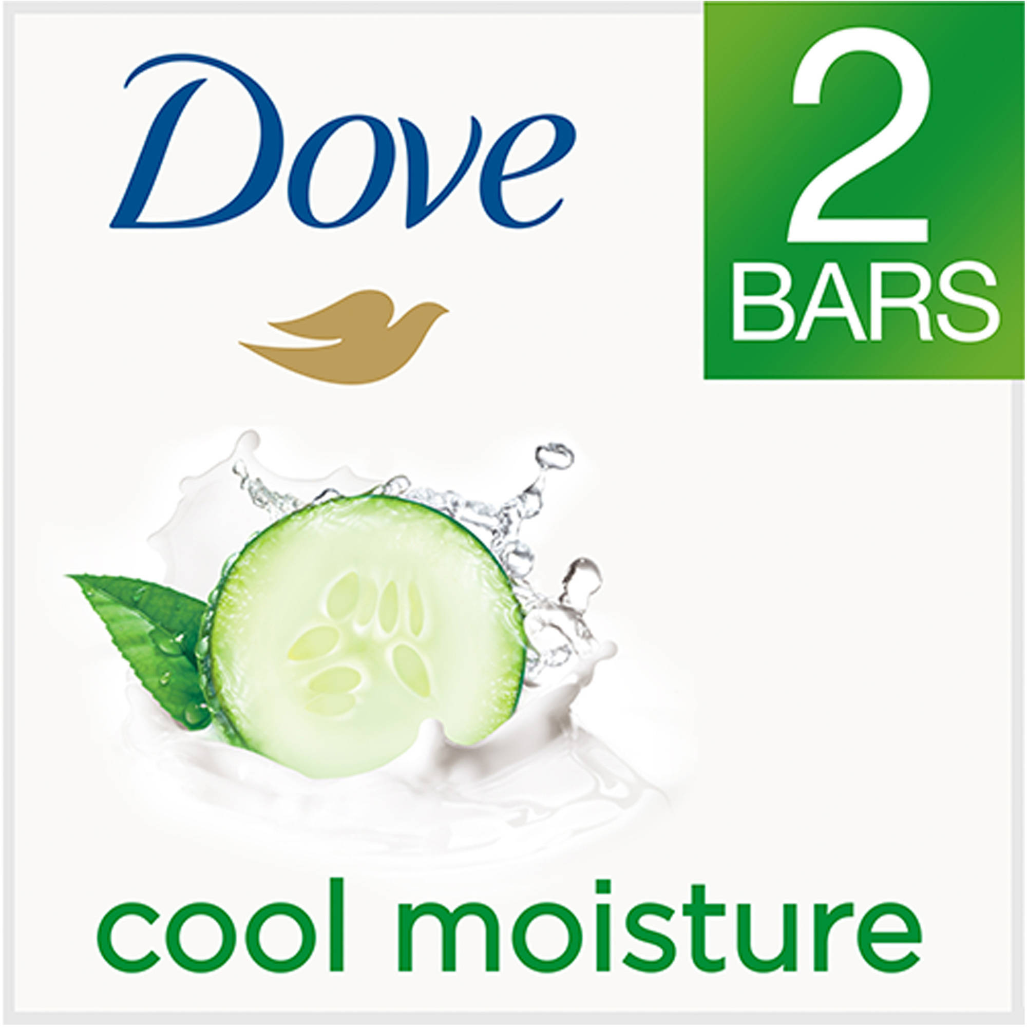 Dove go fresh Cool Moisture Beauty Bar, 4 oz, 2 Bar