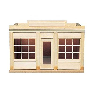 dollhouse miniature street of shops-two window shop by ho...