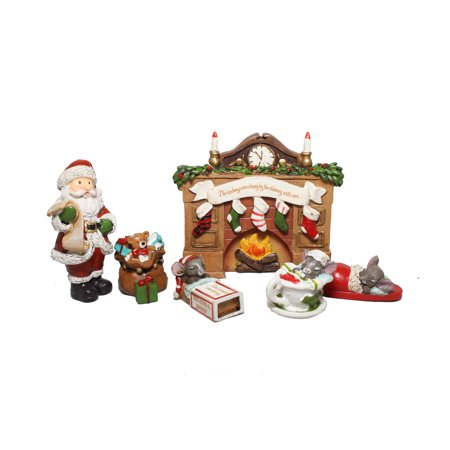 giftcraft night before christmas fairy garden figurine st - Miniature Christmas Figurines