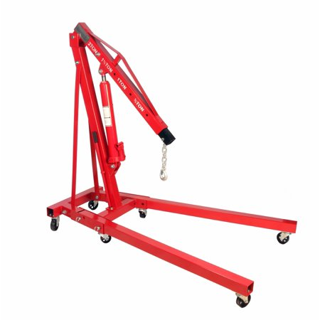 Dragway Tools® 2 Ton Folding Hydraulic Engine Hoist Cherry Picker Shop Crane Hoist (Folding Shop Crane)