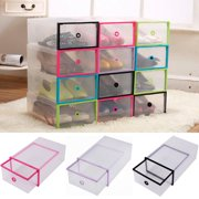 Yosoo 5PCS Shoe Box Drawer Home Organizers Clear Plastic Shoe Storage Transparent Boxes Container for Shoes Organizer