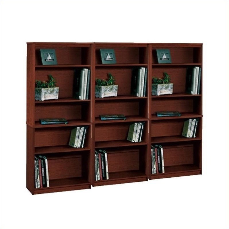 Bestar 5 Wall Bookcase in Tuscany Brown by Bestar
