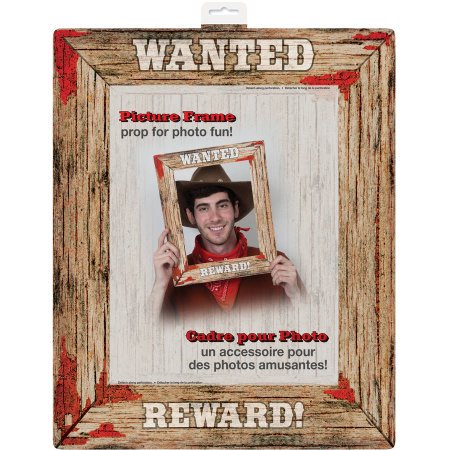 (4 Pack) Western Hoedown Wanted Poster Photo Booth Prop - Western Hoedown