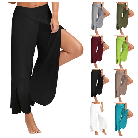 Women Sports Pants Chiffon Loose Pants Yoga Pants Fitness Hot Sale 8 Colors M-5XL