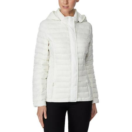 32 Degrees White Ultra Light Down Packable Hooded Puffer Coat S](32 degrees puffer coat)