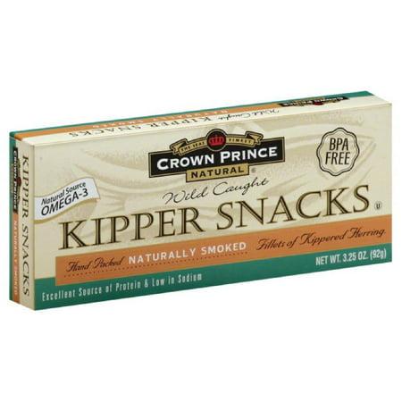 Crown Prince Naturally Smoked Kipper Snacks, 3.25 Oz (Pack of 18)