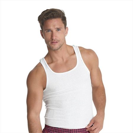 60a71599e1d755 Hanes 7990W3 Classics Men Traditional Fit Comfortsoft Tagless Ribbed A-Shirt  3-Pack ...